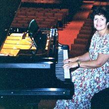 Shona at the Bosendorfer Grand Piano in Victoria Hall, Singapore